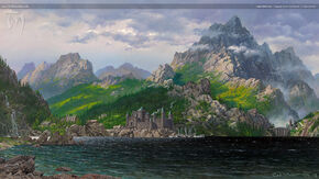 Lake Helevorn, by Ted Nasmith