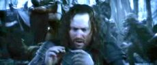 Isildur attempts to use the One Ring