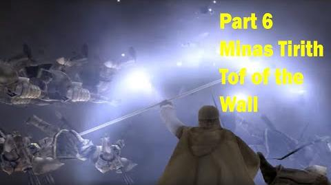 LotR Return of the King - Walkthrough Game - Minas Tirith Top of the Wall - Part 6
