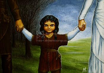 Maeglin jako dziecko − autorstwa Barbary Śliwińskiej