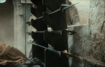 """Czarne strzały w ekranizacji <a href=""""/pl/wiki/Peter_Jackson"""" title=""""Peter Jackson"""">Petera Jacksona</a>"""