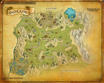 Карта - Дунланд