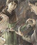 Bergil überreicht Aragorn das Königskraut