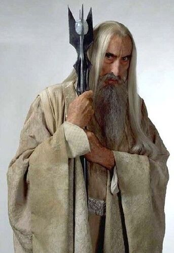 Christopher Lee as Saruman (http://lotr.wikia.com/wiki/Saruman)
