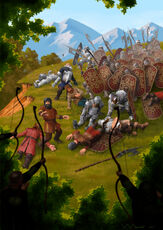 Battle by sarn athrad by ivanalekseich-d9dge2i