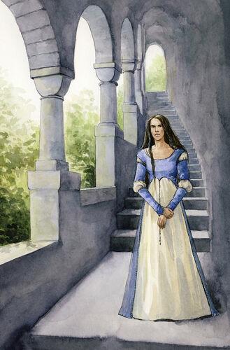 Anaire czeka na męża (graf. Maria Filatova)