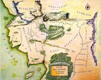 Map of Beleriand