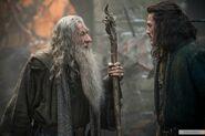 Гэндальф разговаривает с Бардом в Дейле