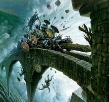 Depiction of the --Orcs-- besieging --Helm's Deep--, drawn before 2006