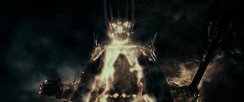 """Zniszczenie Saurona w ekranizacji <a href=""""/pl/wiki/Peter_Jackson"""" title=""""Peter Jackson"""">Petera Jacksona</a>"""