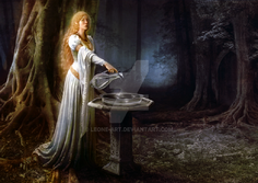 The mirror of galadriel by leone art-d64apt1