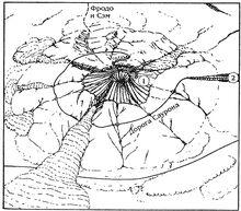 Ородруин(1 - Саммат-Наур; 2 -в Бард-дур.)