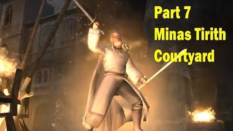 LotR Return of the King - Walkthrough Game - Minas Tirith Courtyard - Part 7