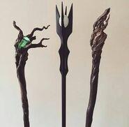The Hobbit staffs