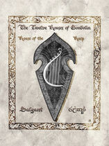 Middle earth heraldry salgant harp by aglargon-d8gyxan
