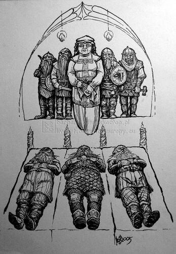Dís wraz z rodziną - autorstwa Barbary Śliwińskiej