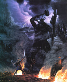 Morgoth&Fingolfin-Ted Nasmith