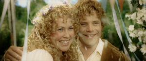 Sam i Różyczka w trakcie ślubu