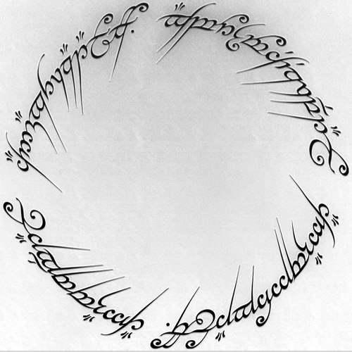 Lord of the rings engraving
