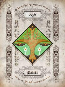 Silmarillion heraldry haleth by aglargon-d8hakvn