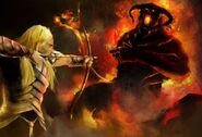 Glorfindel-vs-the-Balrog by HectorBetancur