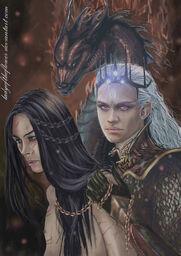 Morgoth maeglin by ladyoftheflower