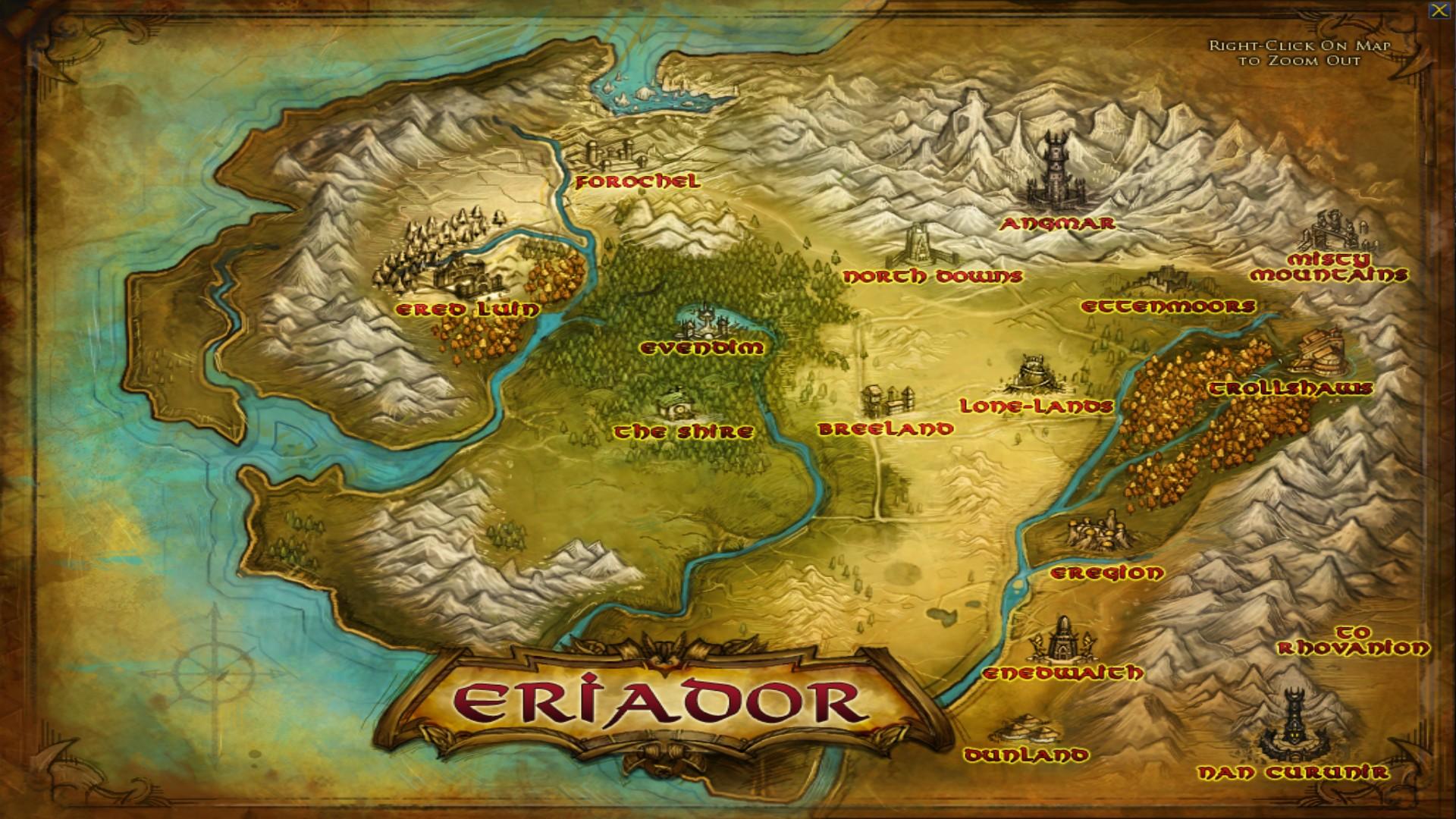 Map Eriadorjpg Image Map Lord Of Rings