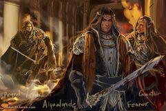 Galadriel-Feanor-Alqualonde by dakkun39