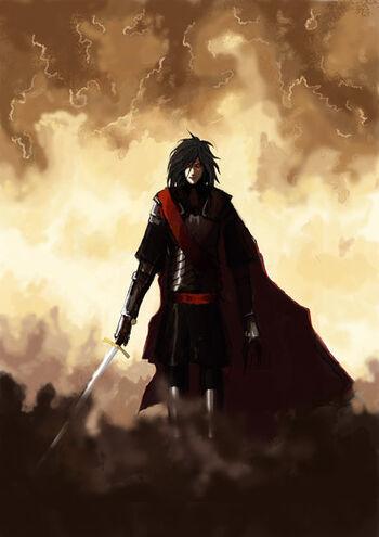 Fëanor autorstwa deErenas (DeviantArt).