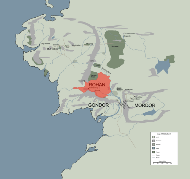 image rohan location map in middle earth png the one wiki to