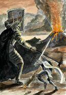 Fingilfin vs Morgoth by AbePapakhian