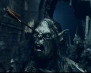 Orc arrow in head