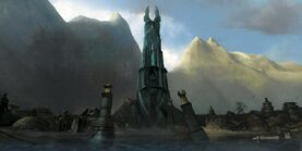 Across middle earth the ruins of isengard by ralphdamiani