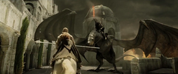 Witch King confronting Gandalf