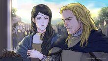 Húrin and Morwen by Dakkun39
