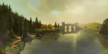 Across middle earth the last bridge by ralphdamiani