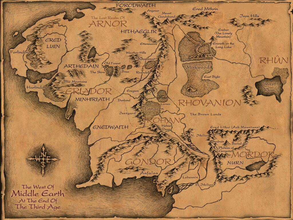 Middleearthmap Maps The One Wiki to