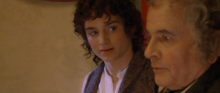 Frodo Baggins with Bilbo