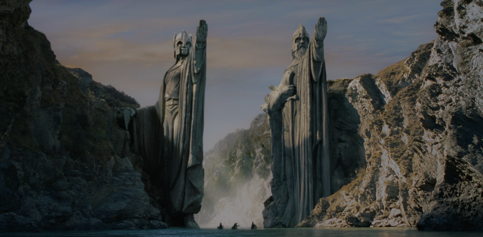 Lord of the Rings Argonath Pillar of Kings Teams Background