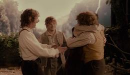 The Hobbits in Rivendell