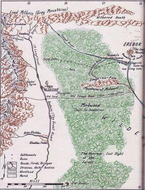 Mroczna Puszcza-mapa