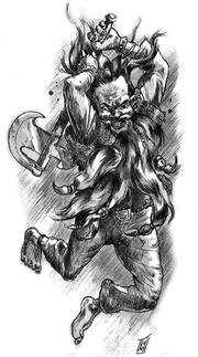 180px-Warren Mahy - Firebeard dwarf