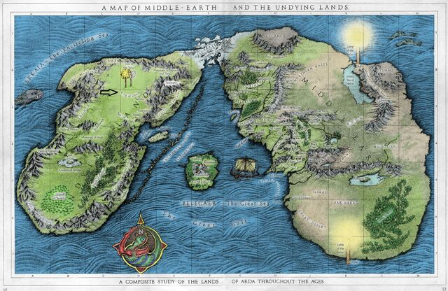 FileA Map Of Middle Earth And The Undying Lands Color