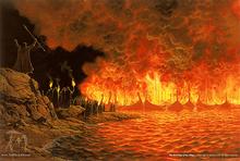The Noldor Burn the White Ships