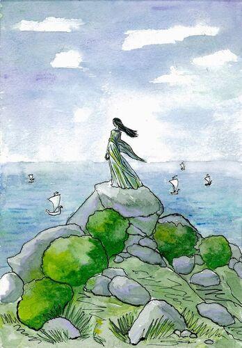 Erendis patrząca na morze