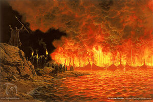 Ted Nasmith - Burning of the Ships