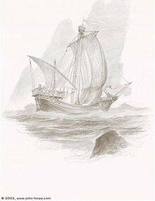 John Howe - Earendil's Ship