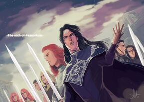 The Oath of Feanorians by ForeverMedhok-sfd