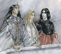 Catherine Karina Chmiel - Turgon, Idril, and Maeglin together