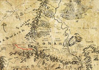 Adorn na mapie Rohanu
